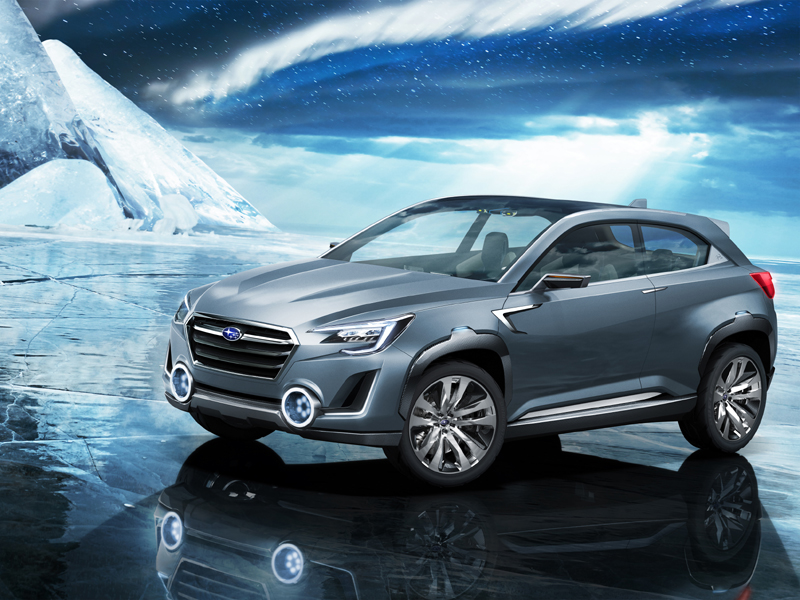 Subaru VIZIV-2 on ice